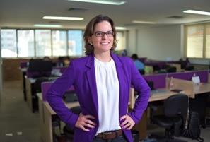 Bruna Lofego, CEO da rede CWK Coworking