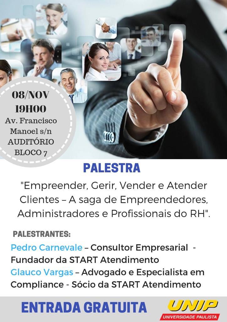 Palestra gratuita para empreendedores em SP