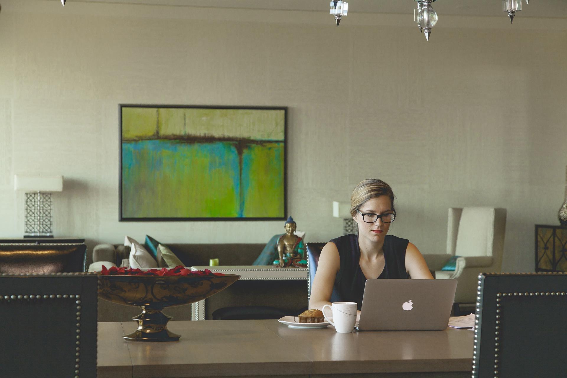 espaço de trabalho em casa